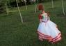 Платье белое с маками