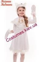 Детский карнавальный костюм Белой кошечки
