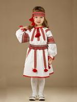 Вышитый костюм для девочки с повязкой