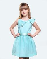 Детское бирюзовое платье
