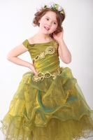 Платье зеленое с золотом