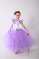 Детское сиреневое платье Фиалка