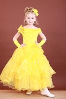 Платье желтое, Желтый цветок ,Хризантема